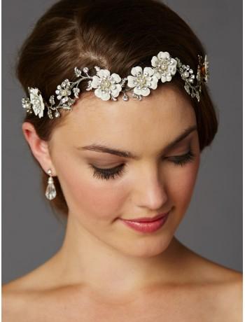 Designer Hand-Enameled Blossom Headband