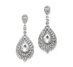 Dramatic Crystal Statement Earrings