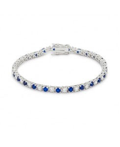 Sapphire Blue Cubic Zirconia Tennis Bracelet