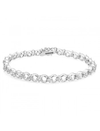 Infinity Circle Cubic Zirconia Bracelet