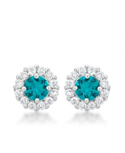 Bella Bridal Earrings in Aqua