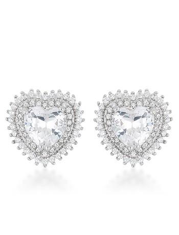 Halo Heart Earrings