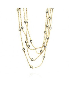 Layered Bezel Golden Necklace