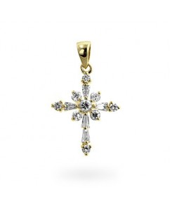 Snowflake Cross Pendant