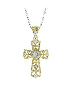 Veiled Cross Pendant