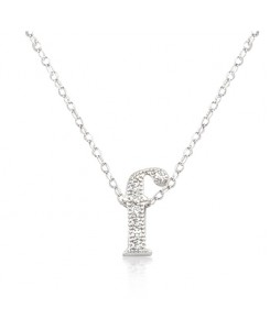 Micro-Pave Initial F Pendant