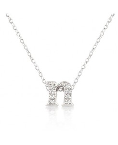 Micro-Pave Initial N Pendant