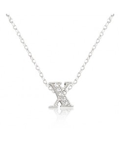 Micro-Pave Initial X Pendant