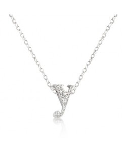 Micro-Pave Initial Y Pendant