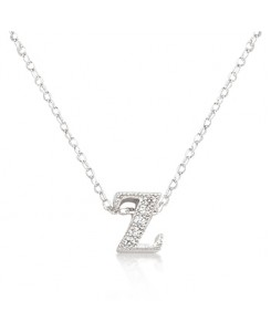 Micro-Pave Initial Z Pendant