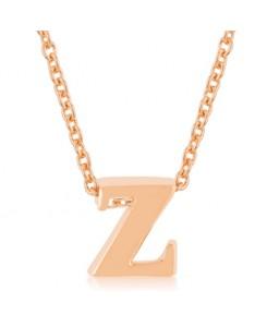 Rosegold Finish Initial Z Pendant