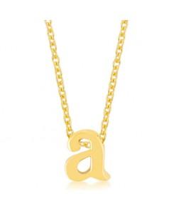 Golden Initial A Pendant