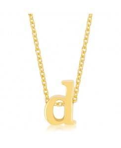 Golden Initial D Pendant
