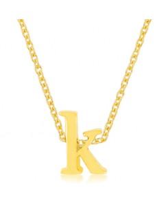 Golden Initial K Pendant