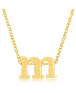 Golden Initial M Pendant
