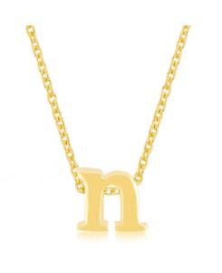 Golden Initial N Pendant