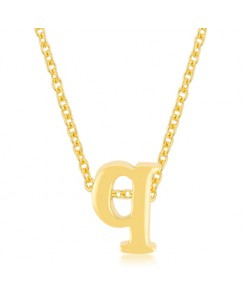 Golden Initial Q Pendant