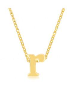 Golden Initial R Pendant