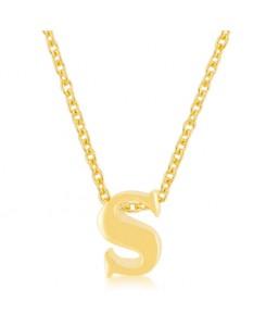 Golden Initial S Pendant