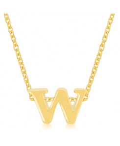 Golden Initial W Pendant