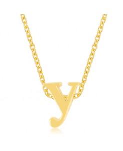 Golden Initial Y Pendant
