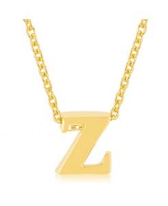 Golden Initial Z Pendant