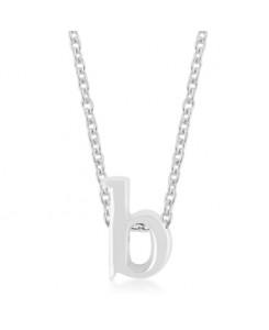 Silvertone Finish Initial B Pendant
