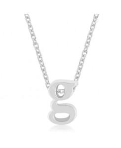 Silvertone Finish Initial G Pendant