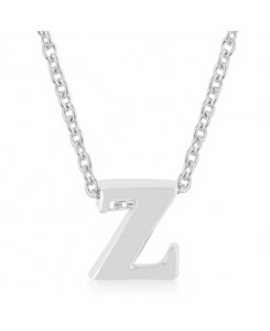 Silvertone Finish Initial Z Pendant