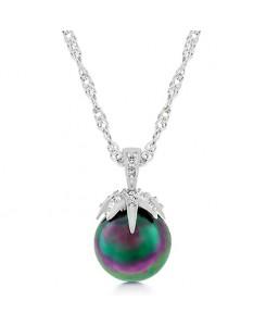 Leafed Tahitian Pearl Pendant