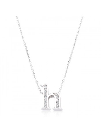 Pave Initial H Pendant