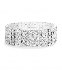 5-Row Stretch Rhinestone Bracelet