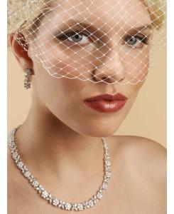 French Net Vintage Bridal Birdcage Visor Veil