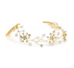 Swarovski Crystal Bridal Tiara Vine in Gold