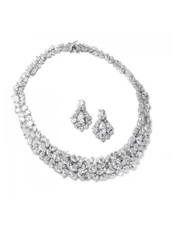 Ravishing Cubic Zirconia Wedding Necklace Set