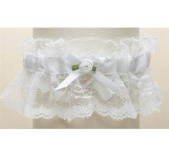 Hand-Sewn Vintage Lace Wedding Garters - White