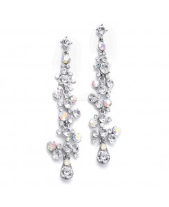 Dramatic Earrings with Cascading Bubbles