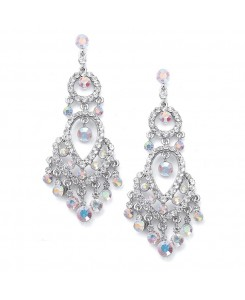 Iridescent Crystal Chandelier Earrings