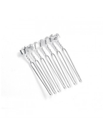 Silver Comb Adapter for Brooches - 1 1/8