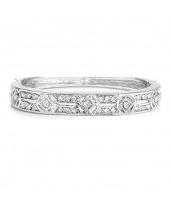 Cubic Zirconia Vintage Bridal Bangle Bracelet