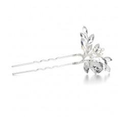 Freshwater Pearl Bridal Hair Pin with Crystals