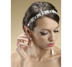 Swarovski Crystal Bridal Headband or Belt with Ribbon