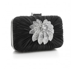 Bejeweled Satin Minaudiere Evening Bag