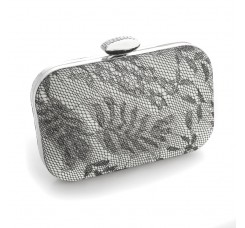 Lacey Evening Minaudiere with Silver Shimmer