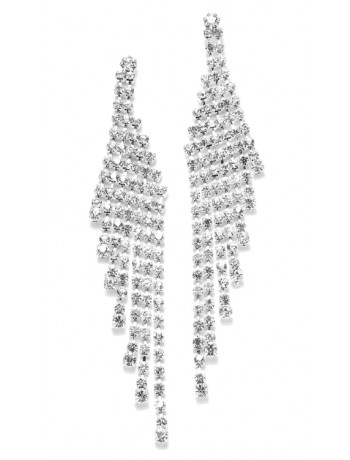 Cascading Rhinestone Prom or Wedding Earrings