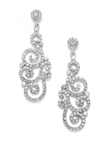 Vintage Jewel Encrusted Wedding or Prom Earring