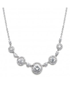 CZ Circles Bridal Necklace