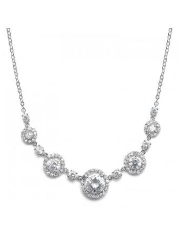 CZ Circles Bridal Necklace