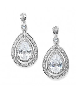 Bold Vintage Cubic Zirconia Wedding Earrings