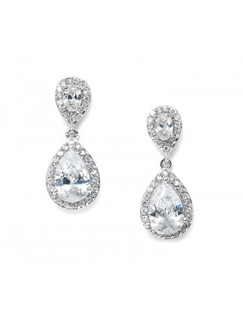 Glamorous Crystal Zirconia Mosaic Earrings Special Occasion Chandeliers